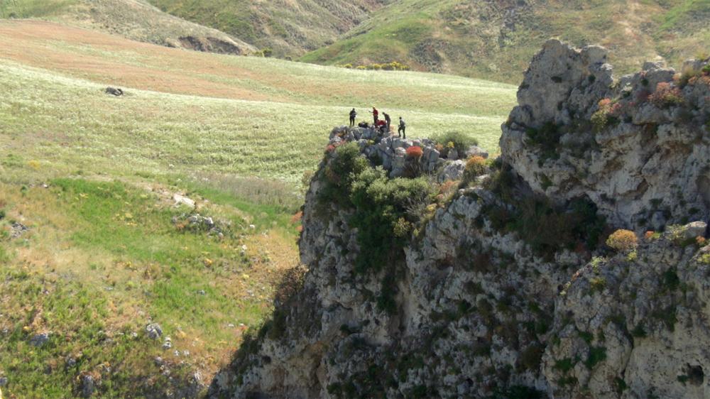 Uno dei siti di nidificazione (foto Andreini/Di Federico).