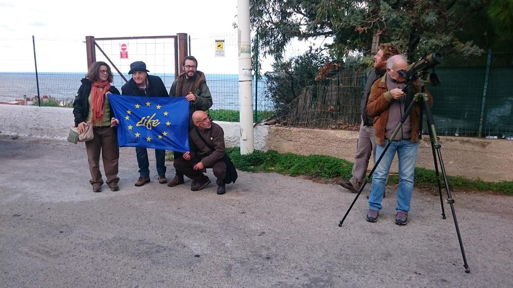 La visita si sposta in uno dei siti sottoposti a sorveglianza (foto Catullo)