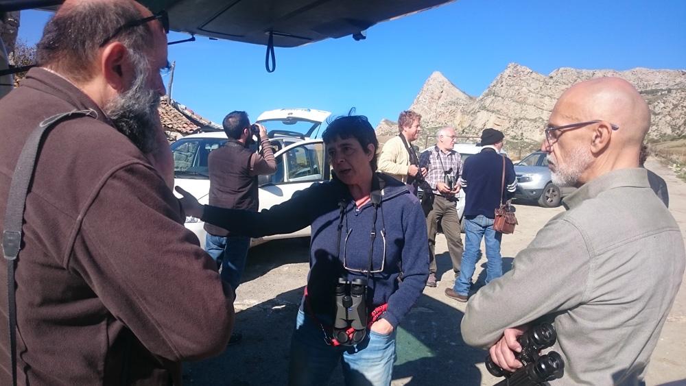 Anna Giordano discute delle minacce ai rapaci (foto Catullo)