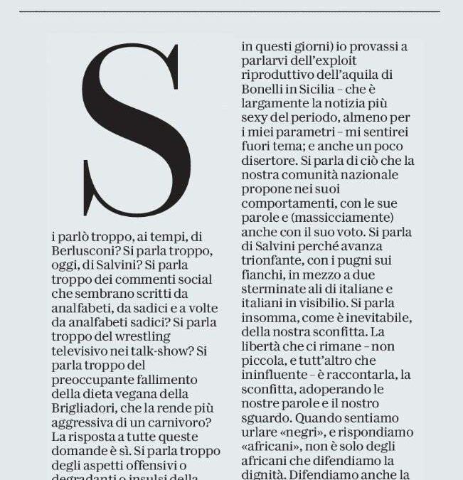 Michele Serra e l'Aquila di Bonelli