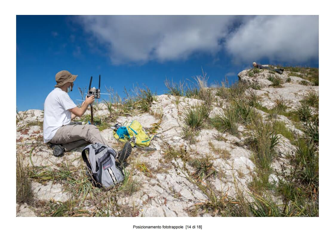 Positioning of camera traps - 14 of 18 (photo: Mathia Coco)